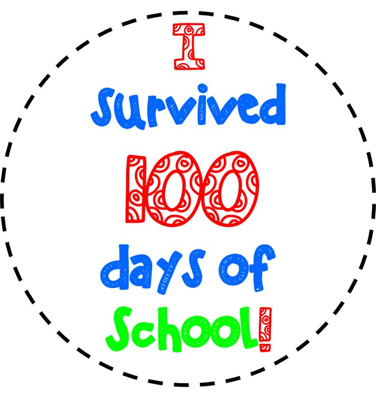FREE 100TH DAY OF SCHOOL CLIPART | Kindergarten 100th Day Activities …