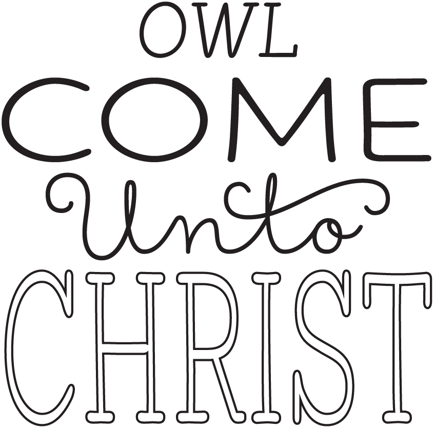 YW Personal Progress V{owl}ues Come Unto Christ Clipart | Hang a ...