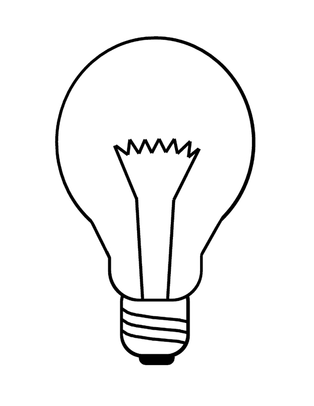 lightbulb picture Colouring Pages