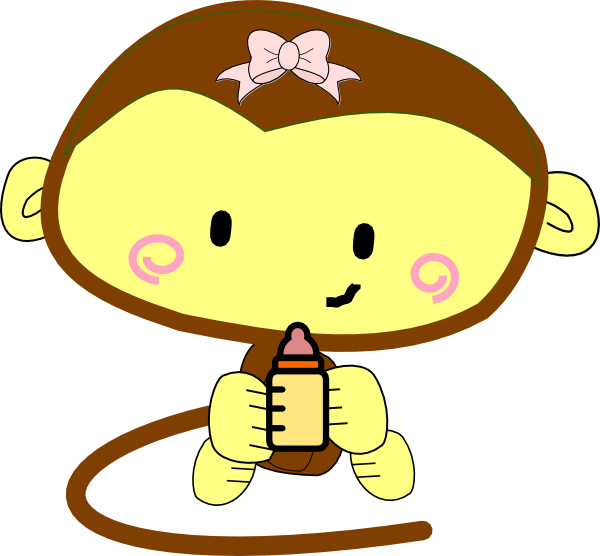 Girly Monkey Cartoon - More information