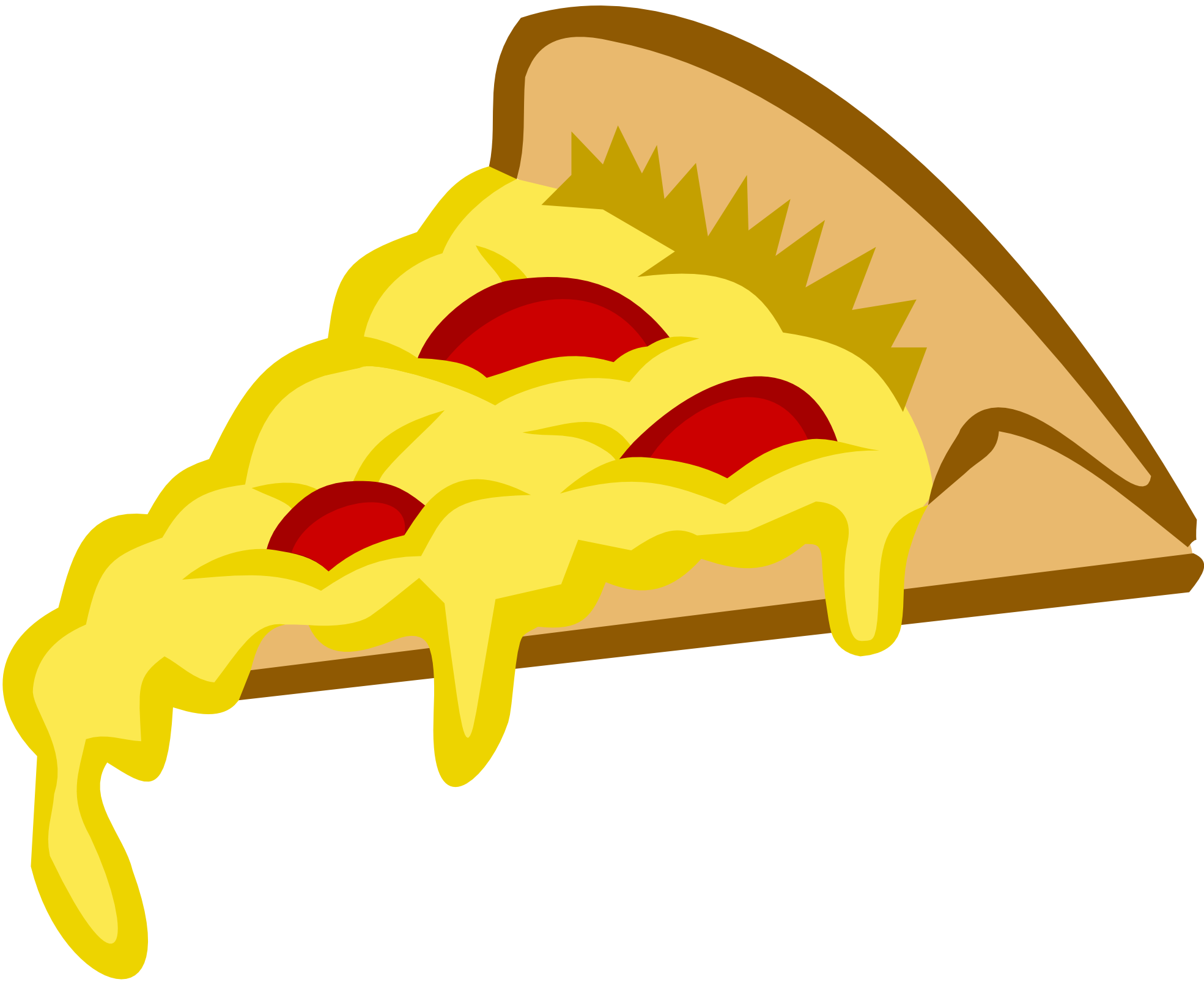 clipartist.net » Clip Art » Pizza Slice Tango Colors Scalable ...