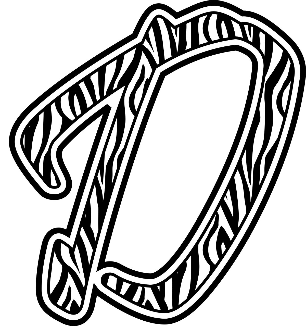 Free Coloring Pages Of Letter T Zebra Print