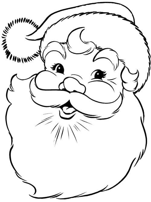Santa Claus Face Pictures - Cliparts.co