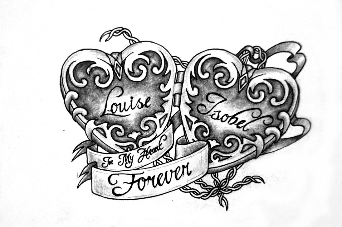 Flower And Heart Tattoo Designs Cliparts Co