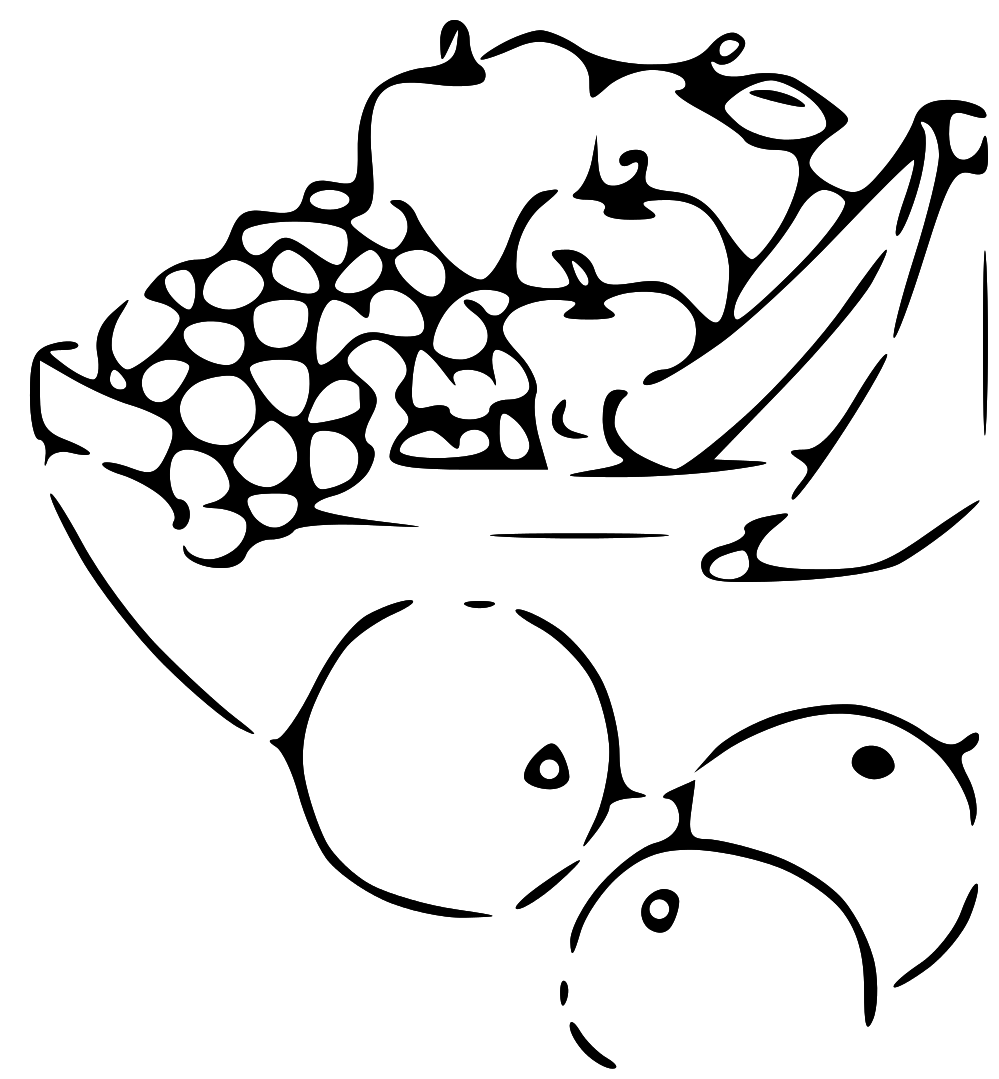 Fruits And Vegetables Basket Clipart Panda Free