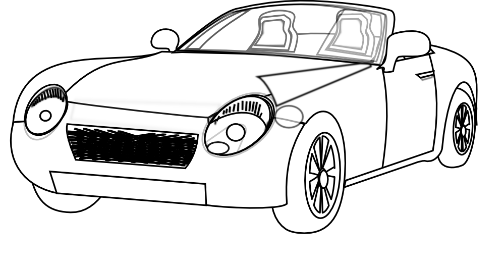 clipartist.net » Clip Art » alloy yellow convertible sports car ...