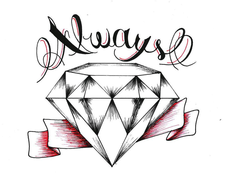 Diamond Drawing Tattoo