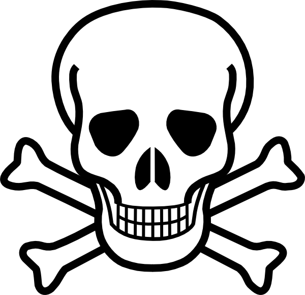 Skull And Crossbones clip art - vector clip art online, royalty ...