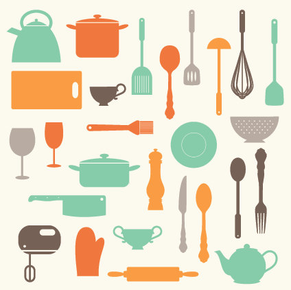 Cooking utensils images for Kitchen set items