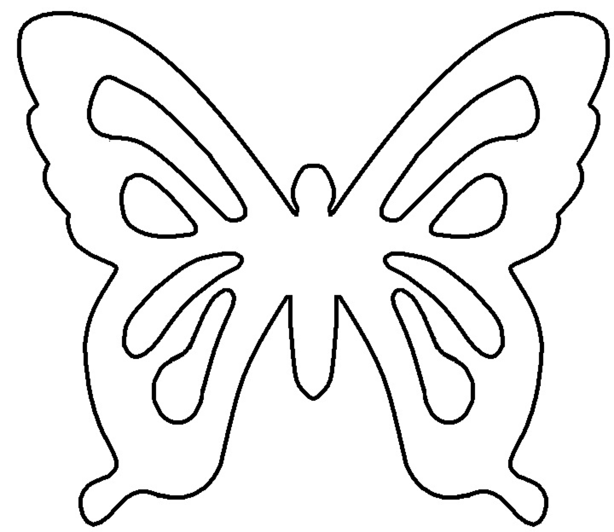 Butterfly wing outline clipartsco for Butterfly templates to print