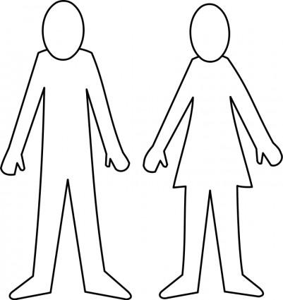 outline of female body clipartsco