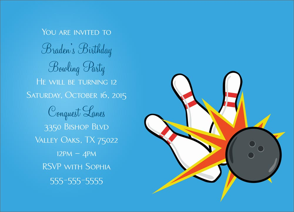 Free Printable Bowling Party Invitation Templates Clipartsco – Free Bowling Party Invitations
