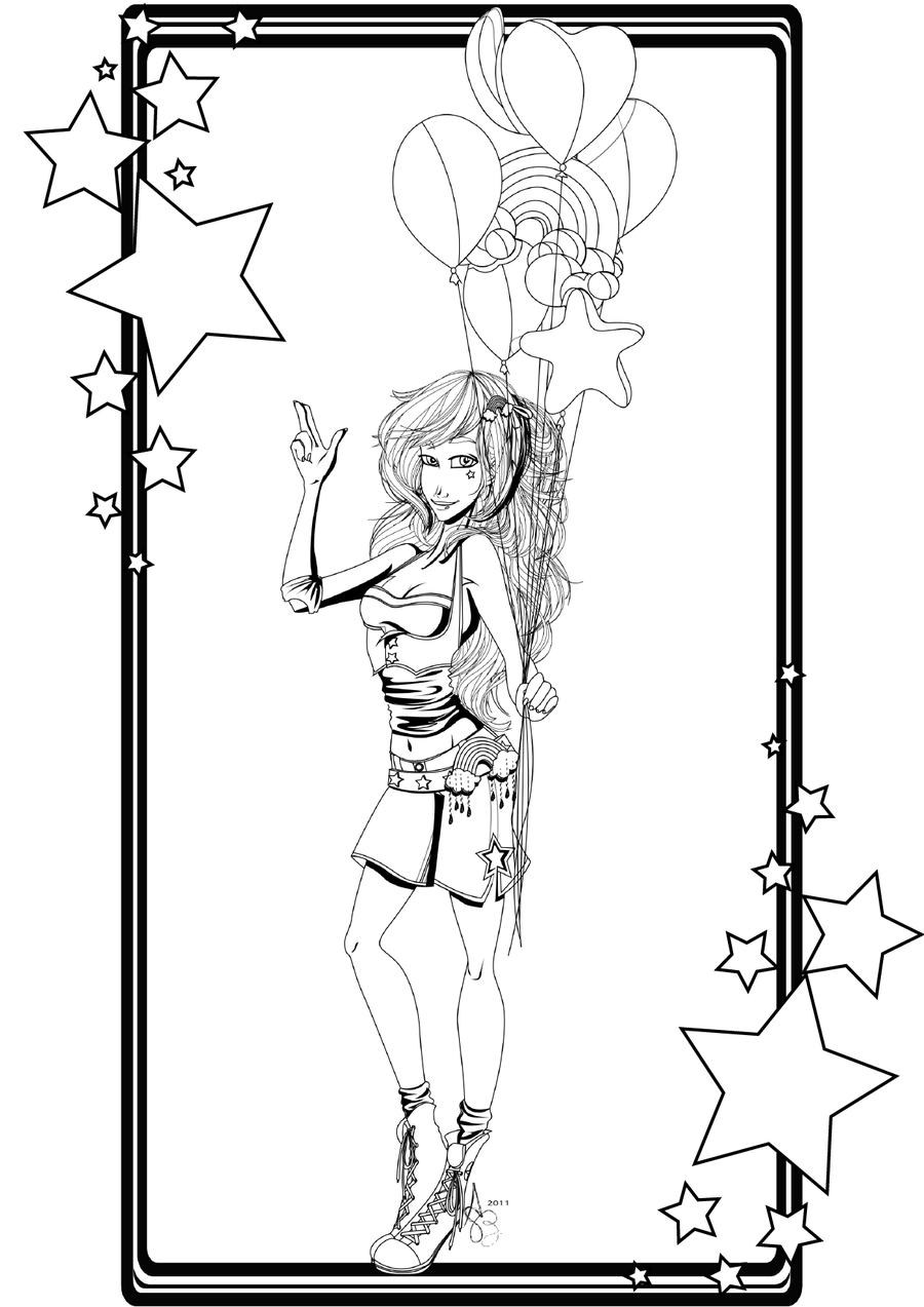 Pin Up Girl Coloring Pages Cliparts Co Pin Up Coloring Pages
