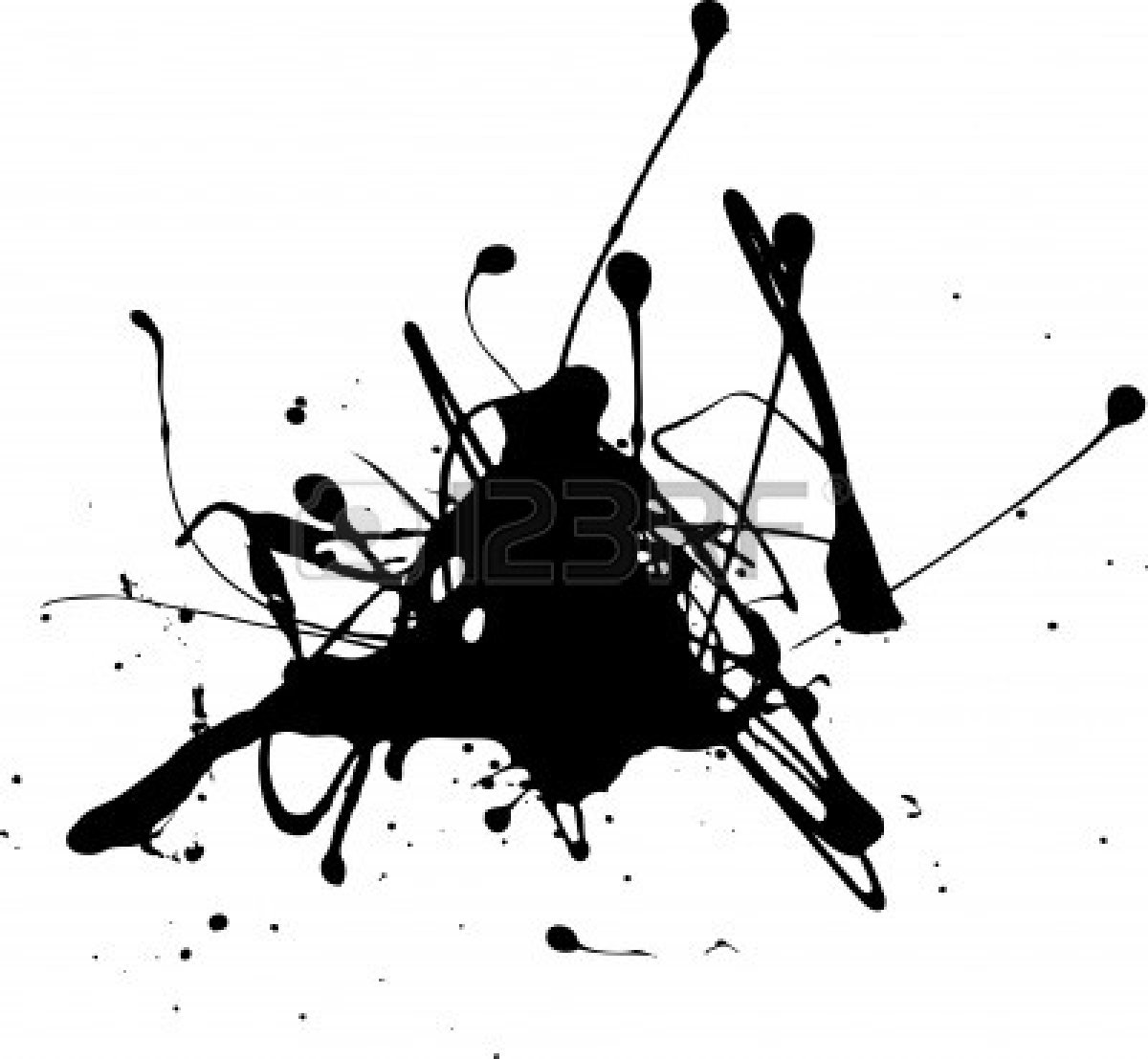 Black Paint Splatter Clip Art