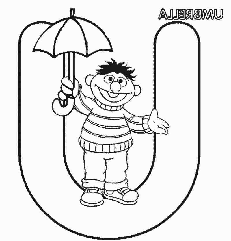 letter u is for umbrella coloring for kids kids