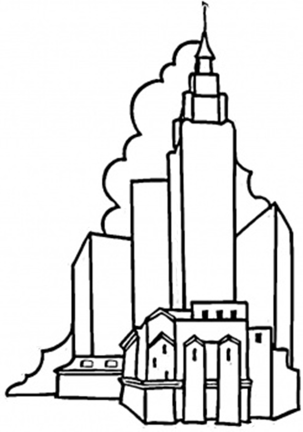 coloring pages of capitol building - photo#28
