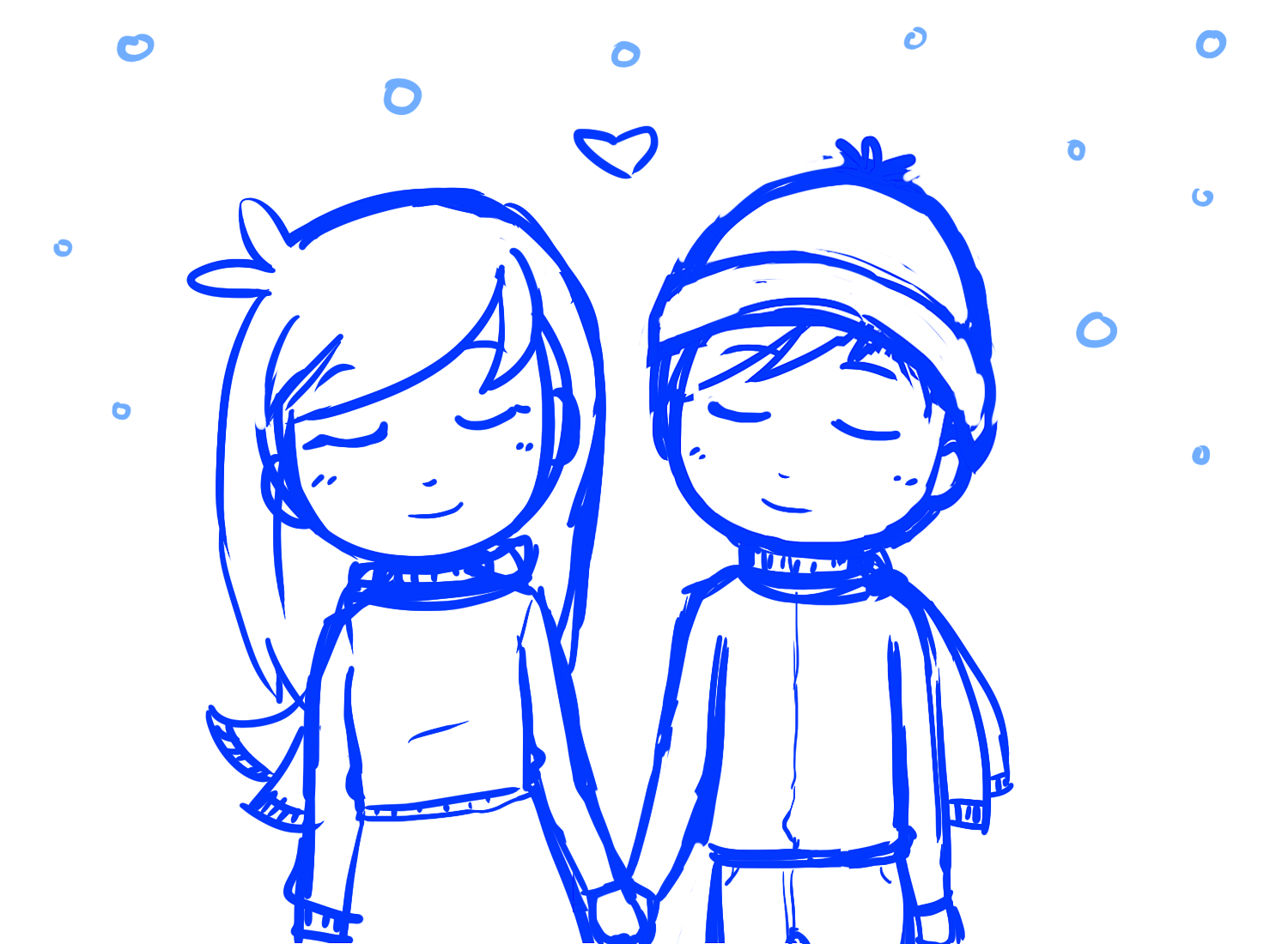 Cute Cartoon Couples Holding Hands - Cliparts.co