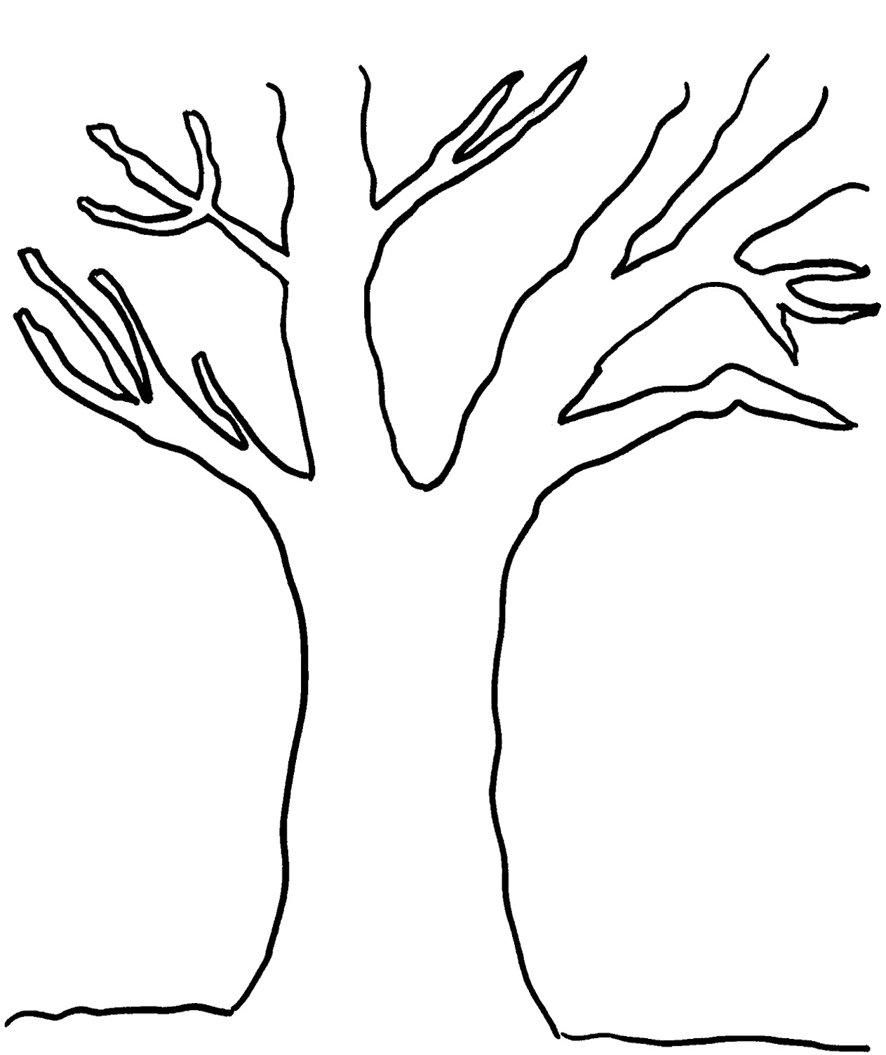 Comprehensive image for tree outline printable