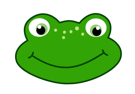 how to draw a frog face