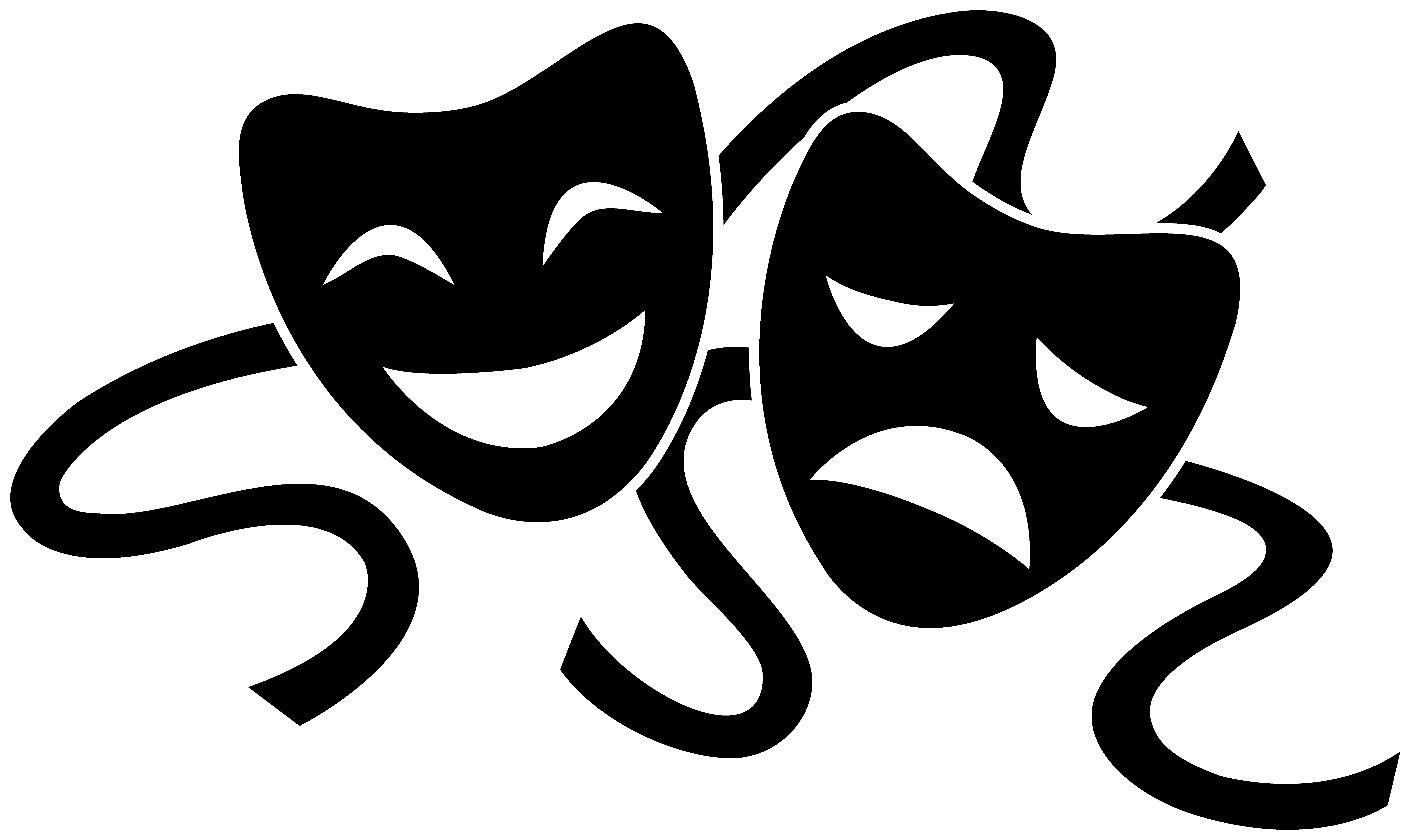 theater masks cliparts co drama clip art images drama clip art black and white