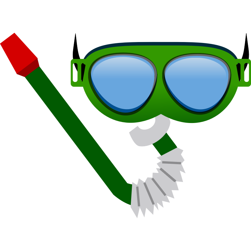 Clipart - Gafas de bucear - Diving mask