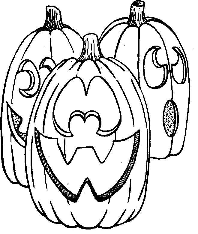 Halloween Spooky And Evil Monsters Coloring Page ...