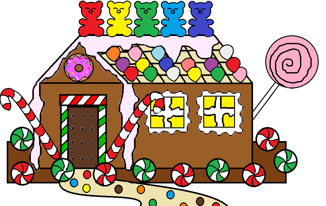 christmas clip art gingerbread house - photo #39