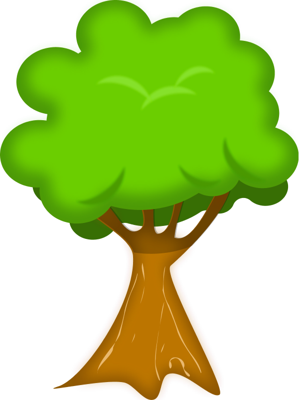 Tree Cartoon - vector Clip Art