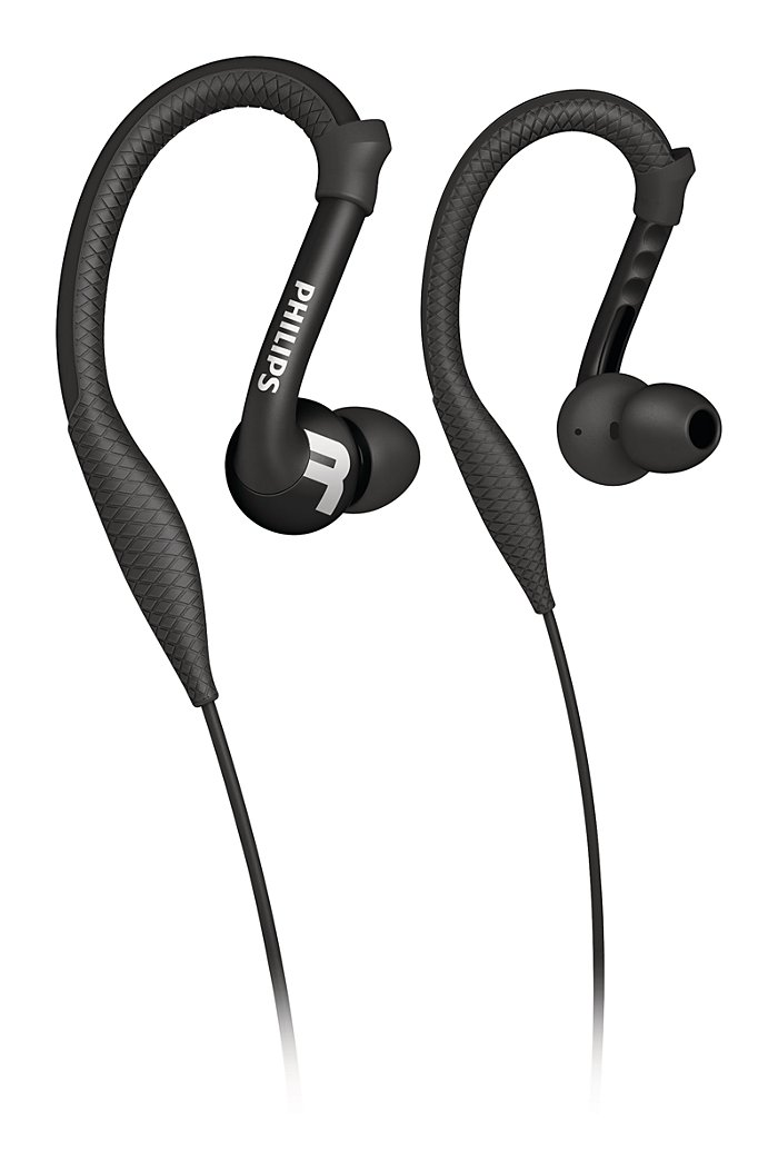 Buy the Philips ActionFit Sports earhook headphones SHQ3200BK/28 ...