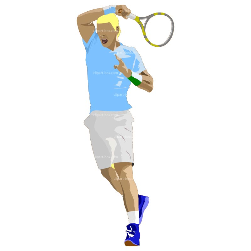 how to draw a tennis player
