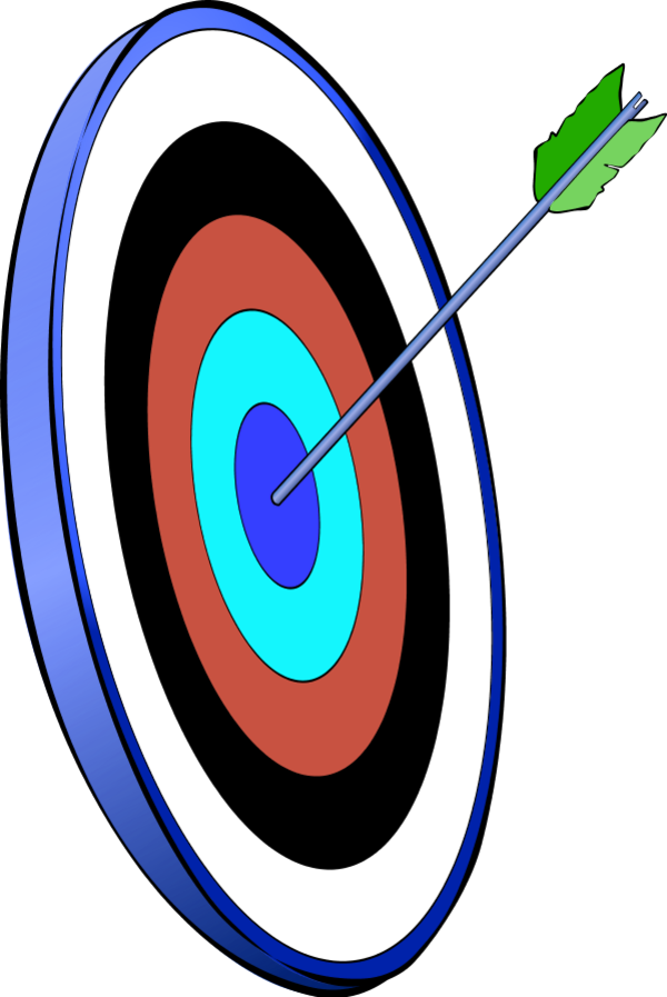 dart arrow in the smallest circle - vector Clip Art