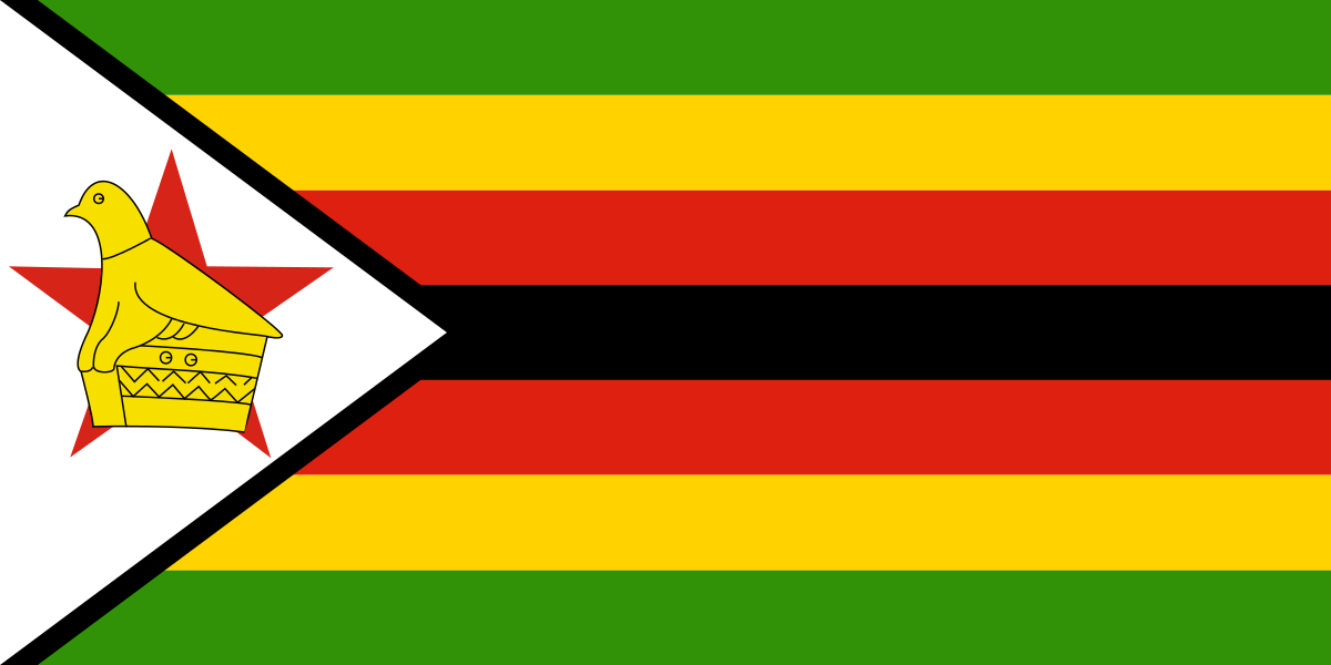 Flag Of Zimbabwe Clipart by tobias : Flag Cliparts #18746- ClipartSE
