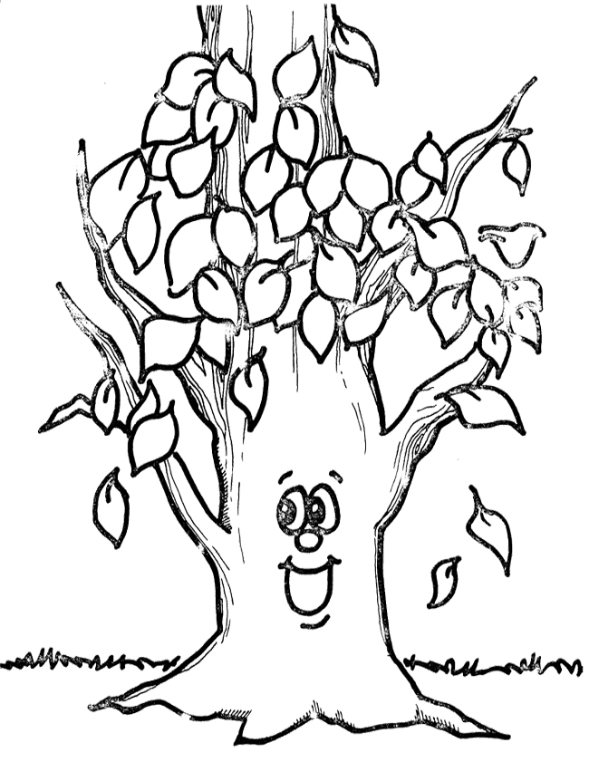 tree without leaves coloring page pages