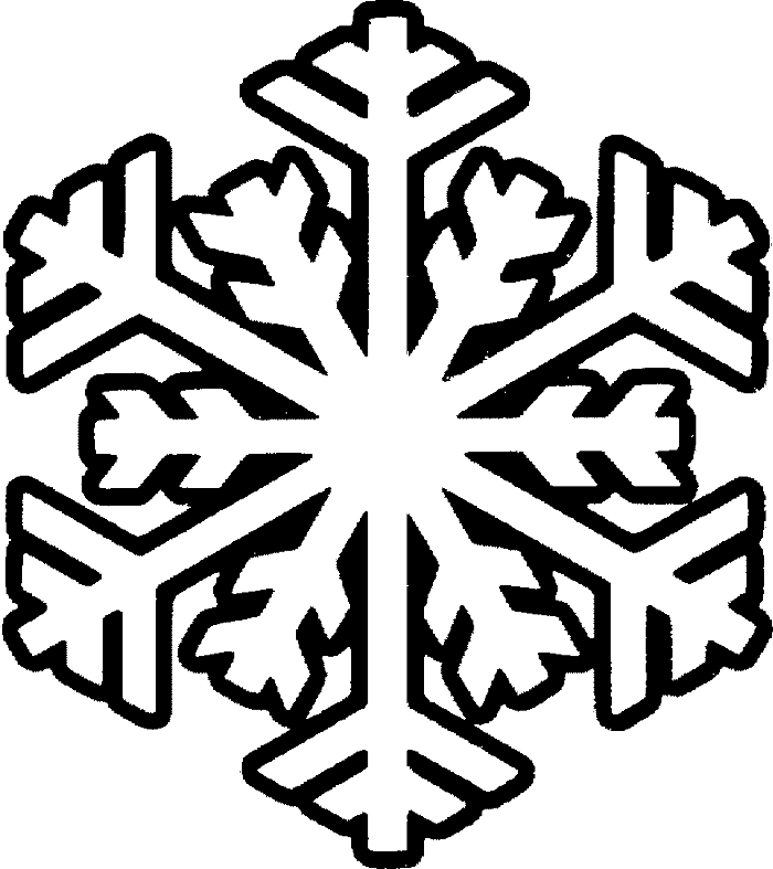 Snowflake With Smile Snowman Coloring Pages - Winter Coloring ...
