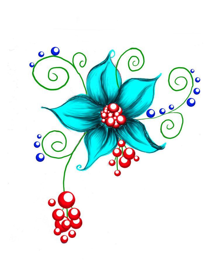 Маленькие цветочки рисованные