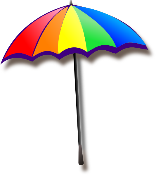 Rainbow Umbrella clip art - vector clip art online, royalty free ...