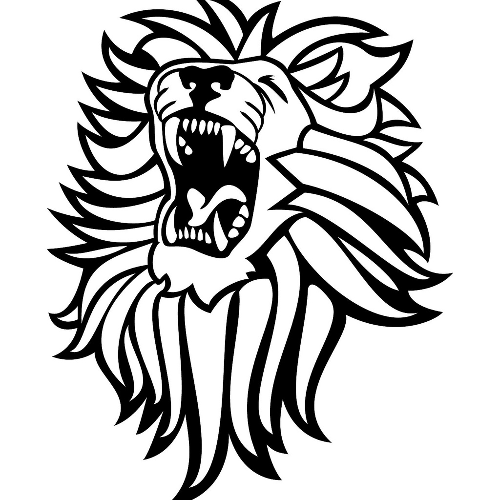 free roaring lion coloring pages - photo#35
