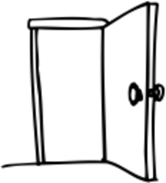 Open door clipart black and white clipart panda free clipart