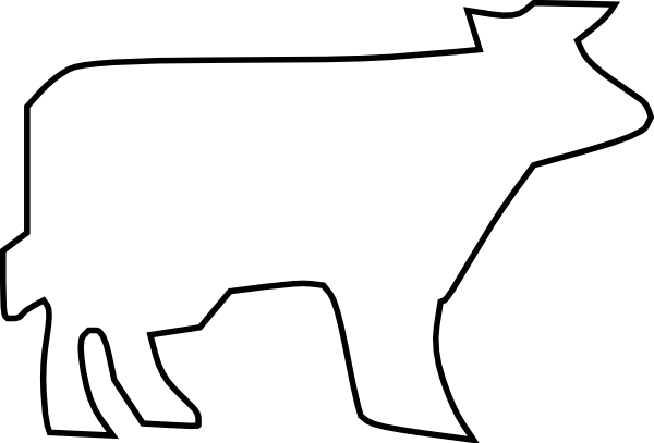 cow clipart simple - photo #16