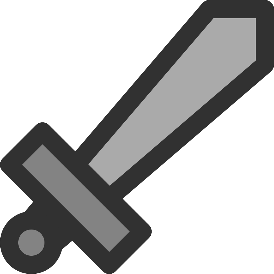 Metal Sword Icon small clipart 300pixel size, free design ...