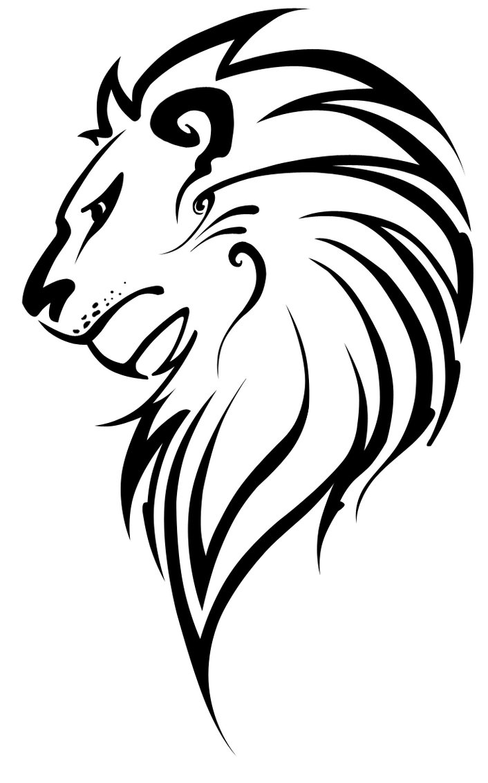 Line Drawing Face Clipart : Lion vector art cliparts