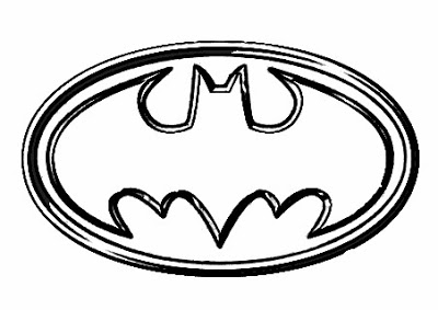 Kids Coloring Batman Logo Super Hero | Kids Coloring Pages