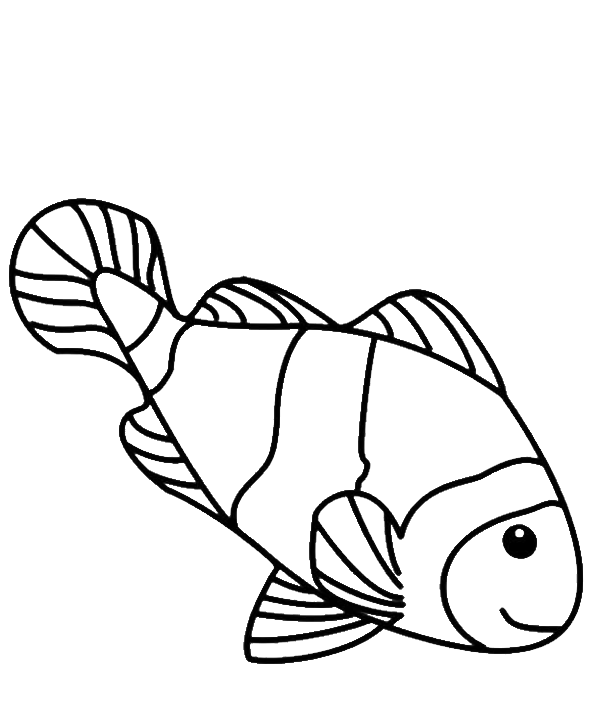 fish line drawings clipartsco
