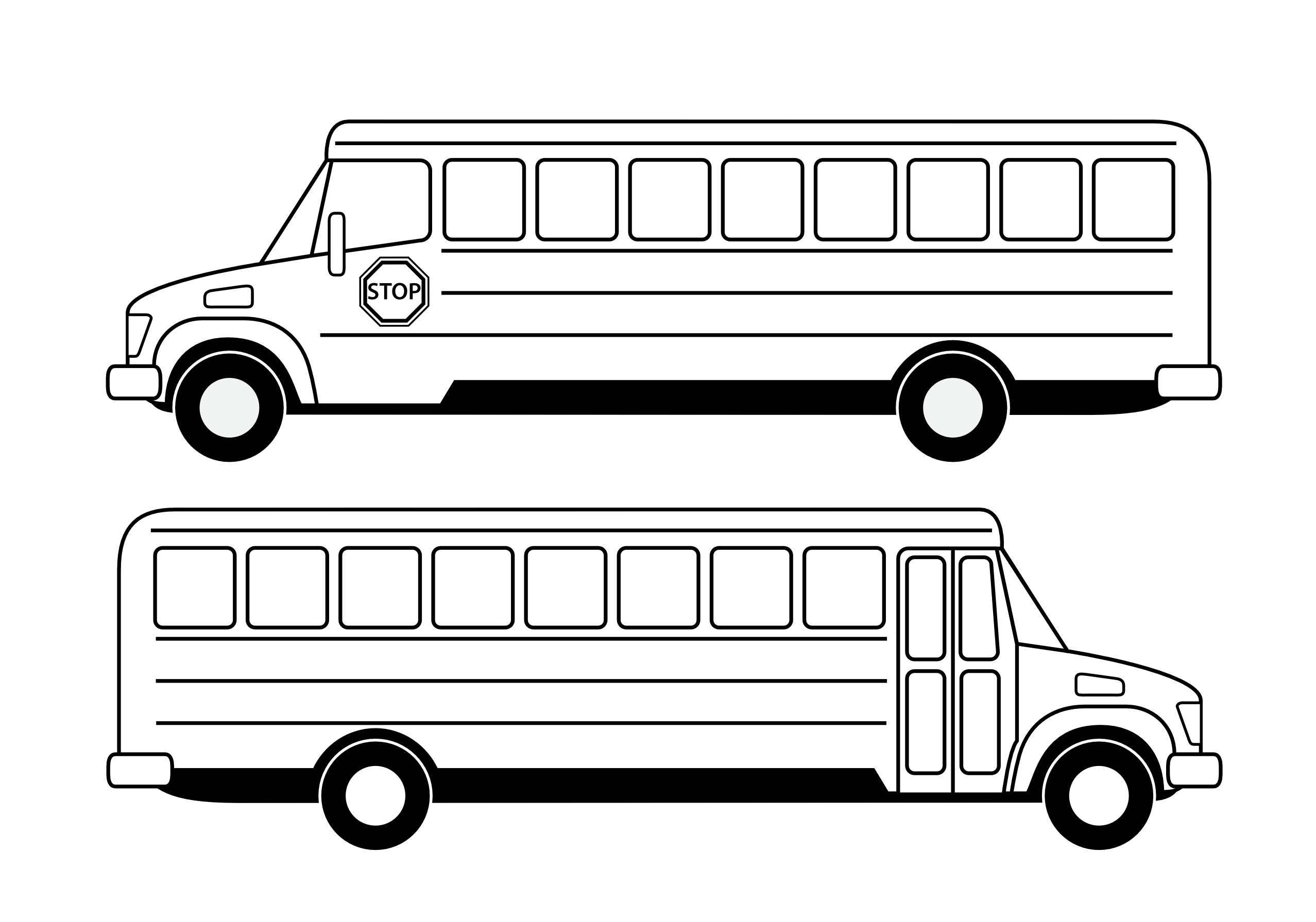 Images For > Bus Outline Clip Art