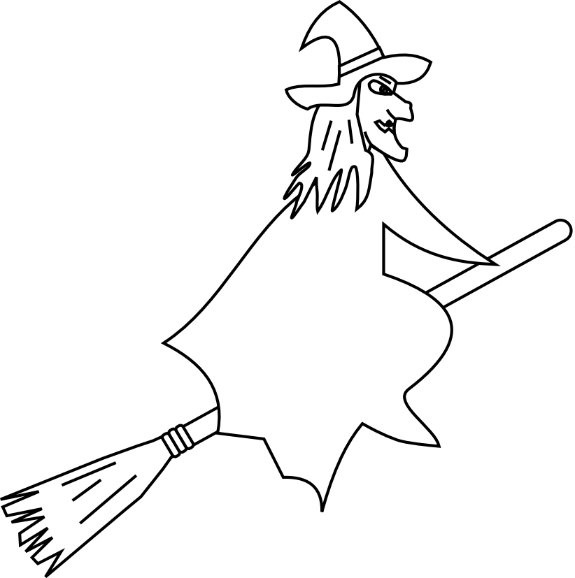 Witch Coloring Pages - Cliparts.co