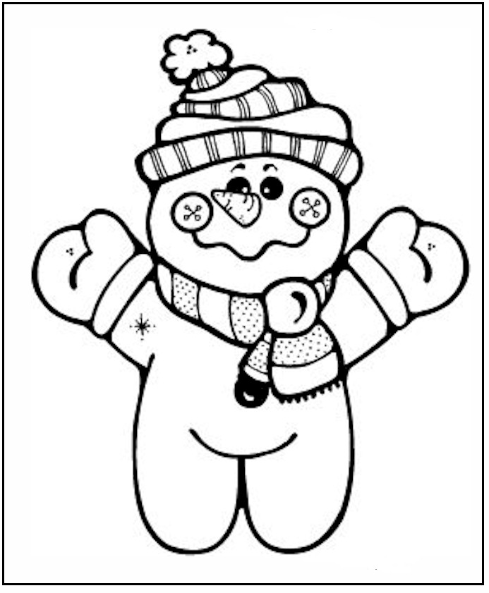 Free Printable Snowman Coloring Pages For Kids | 841x693