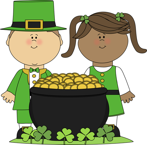 Saint Patrick's Day Kids Clip Art - Saint Patrick's Day Kids Image