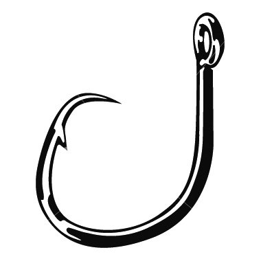 Fishing hook clipart for Fish and hooks