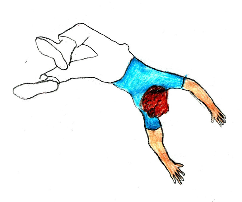 Cartoon Person Falling - Cliparts.co