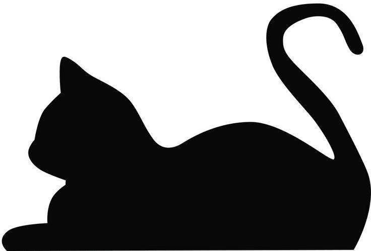 Laying Cat Silhouette | A Study in Silhouettes | Pinterest